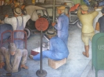 "Men at work.  From Victor Arnautoff's ""City Life.""  Fresco, Coit Tower, 1934."