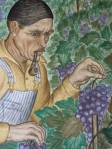 "A grape picker. From Maxine Albro's ""California."" Fresco, Coit Tower, 1934."
